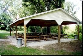 The picnic shelter