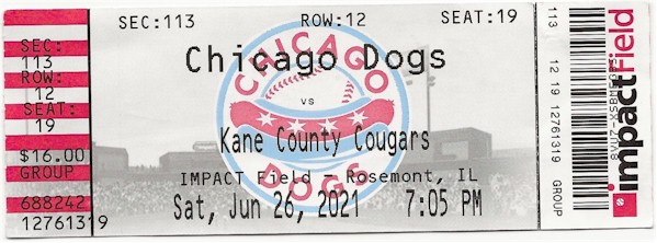 Chicago Dogs Ball Game.