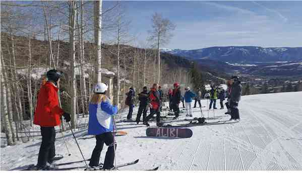 Powder Dogs had a great skiing Snowmass